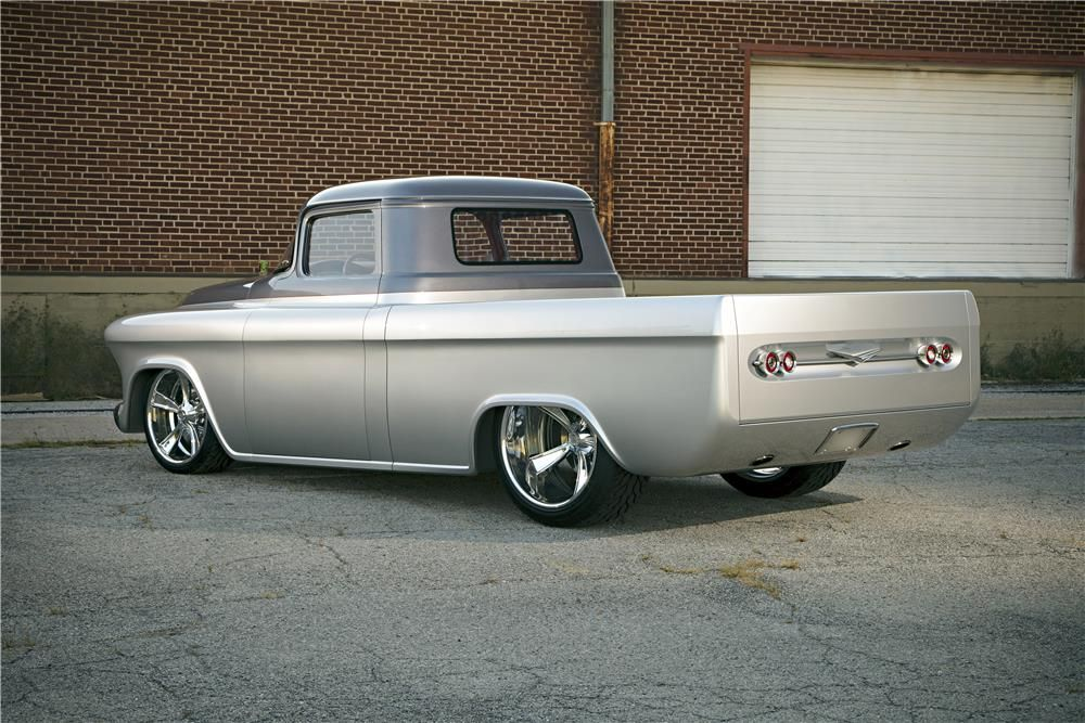 """For sale at auction: This 1957 Chevy truck known as """"QuikSilver"""" was extensively customized over a period of five years by Hot Rod Garage in Sand Springs, Oklahoma. It is simply ..."""