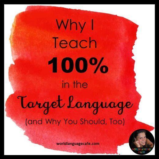 90 target language 100 target language comprehensible input french high school lesson plans. Black Bedroom Furniture Sets. Home Design Ideas