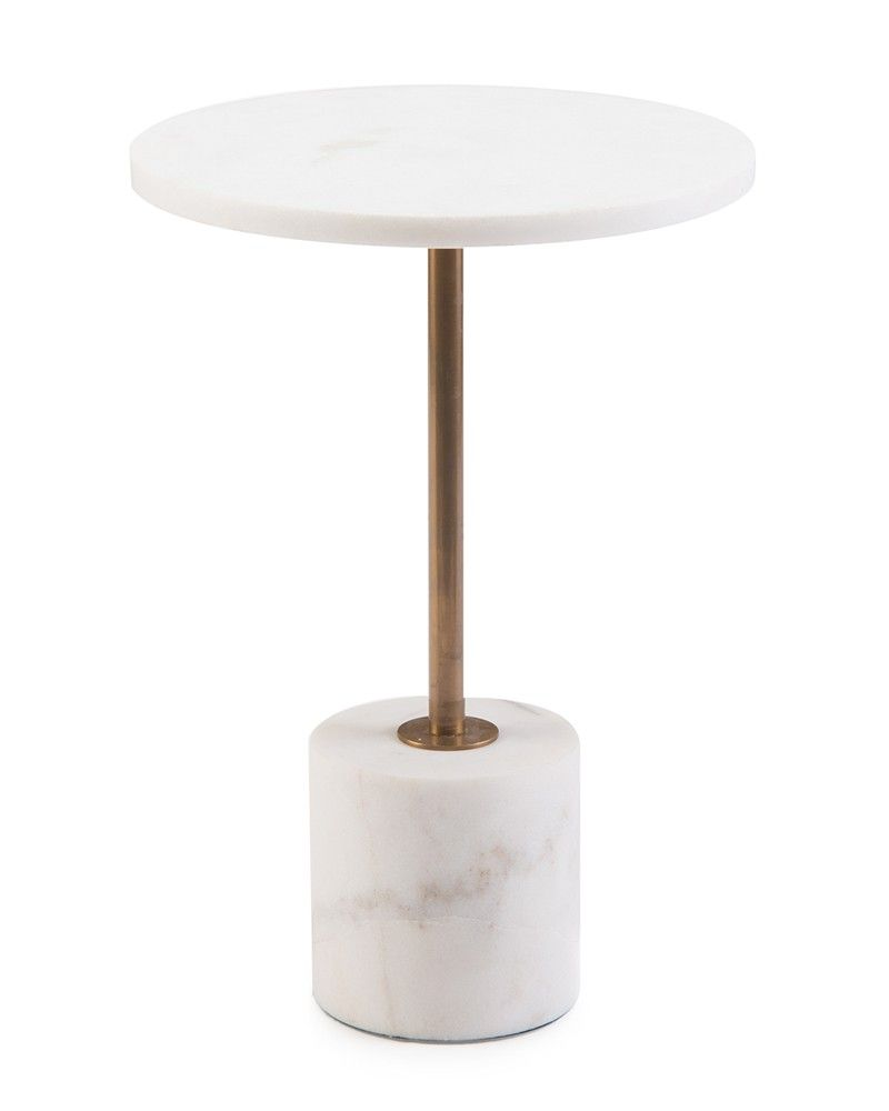 Brass And Marble Martini Side Table Accessories Accessories Amp Botanicals Our Products Side Table Side Table Accessories Furniture Side Tables