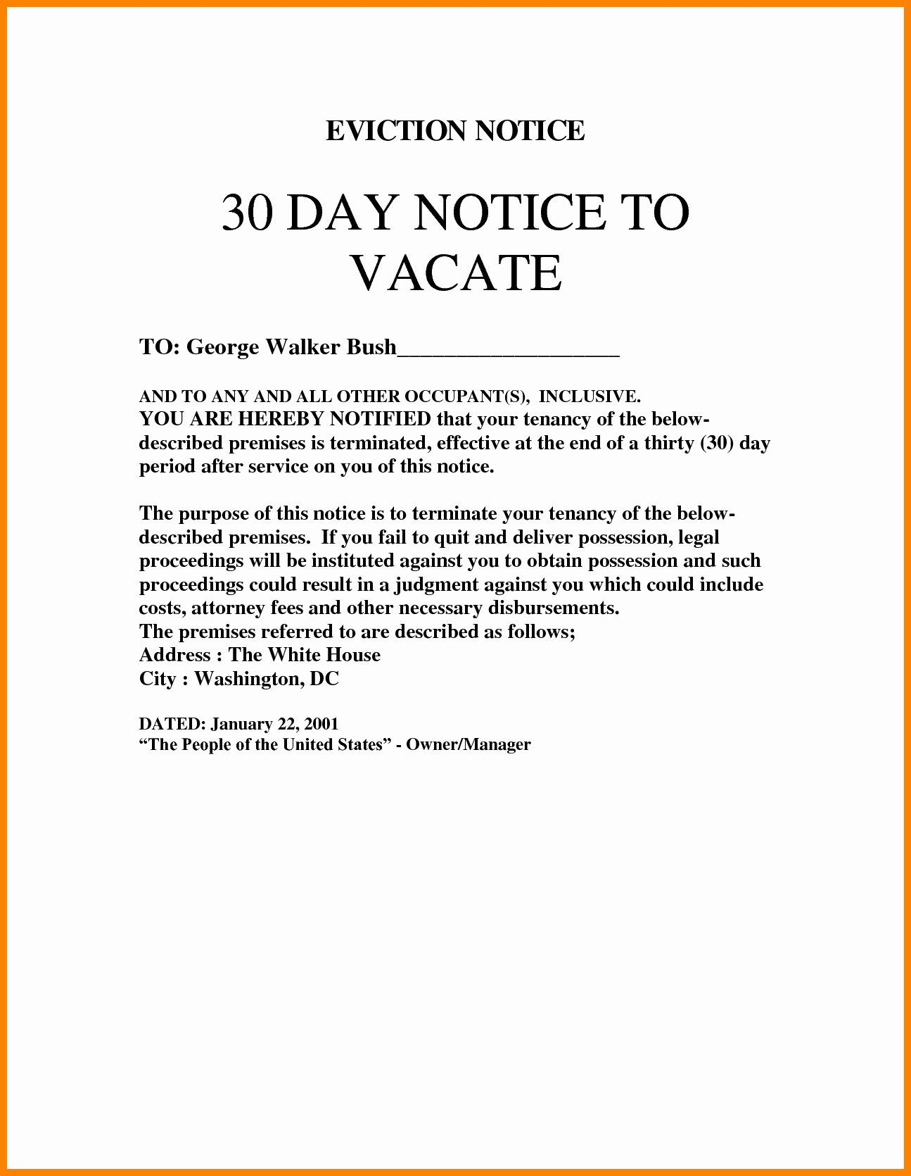 40 30 Day Eviction Notice Form In 2020 30 Day Eviction Notice