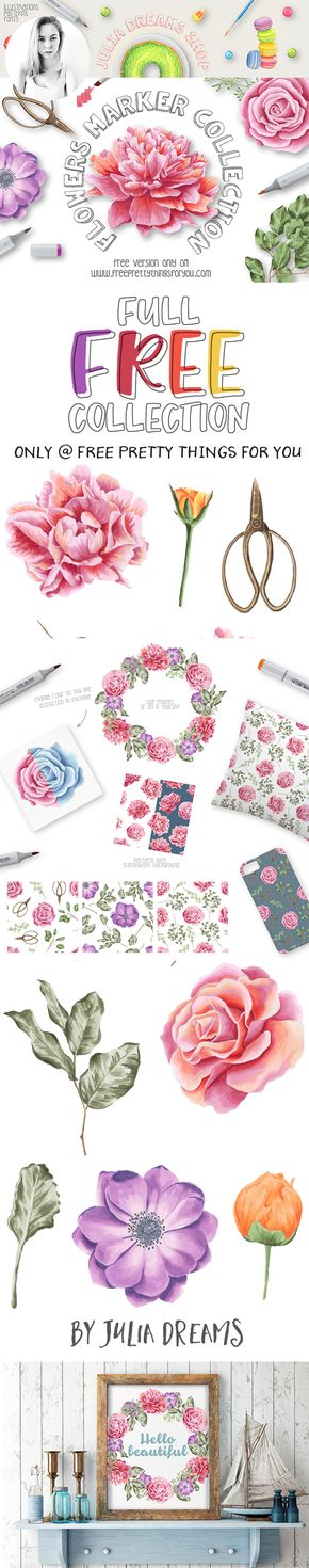 FEATURED DESIGNER: Julia Dreams+FREE Full Flower Marker Collection!! Only At Free Pretty Things For You!