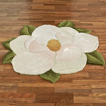 Carreen Magnolia Flower Shaped Rugs
