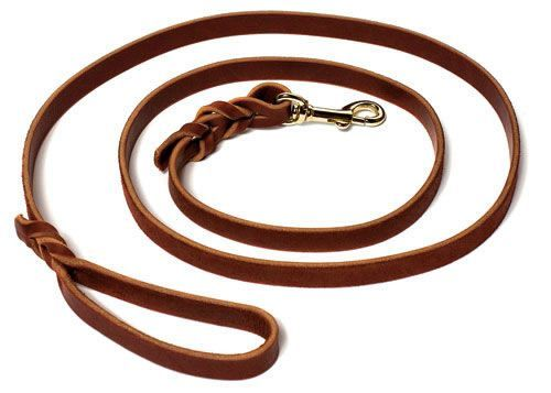 Both obedience and field trainers prefer our 4 foot Dog Leash The Leather Dog Training Leash 4 Foot is designed for those dog trainers that prefer a shorter leash, especially obedience and field trainers. Made by J&J Dog Supplies by hand...