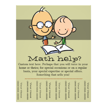 Tutor Tutoring Math Reading Promo Tear Sheet Math