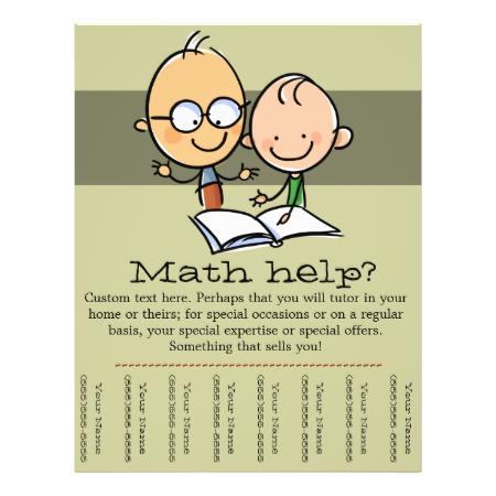 tutor tutoring math reading promo tear sheet flyers