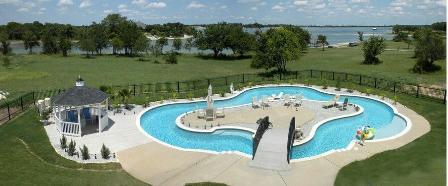 Lazy River Backyard! | The Great Outdoors | Pinterest | Swim