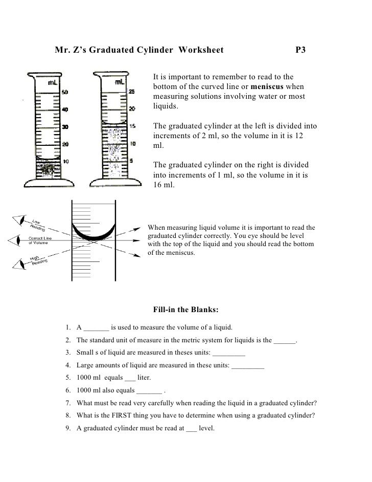 Volume Ws 728x942 Jpeg Measurement Worksheets Graduated Cylinders Worksheets