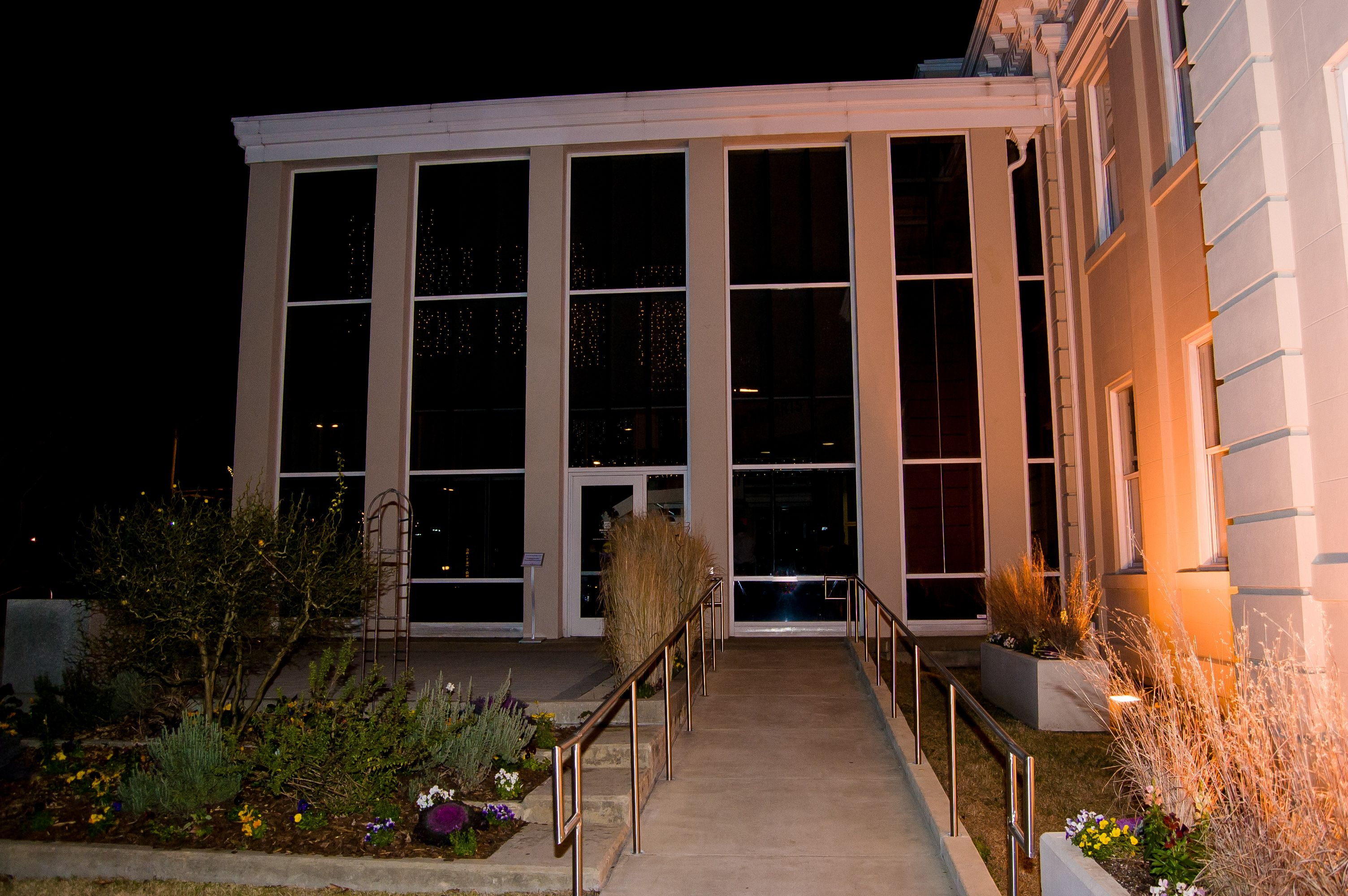 Durham North Carolina Wedding Venues Durham Arts Council At Night