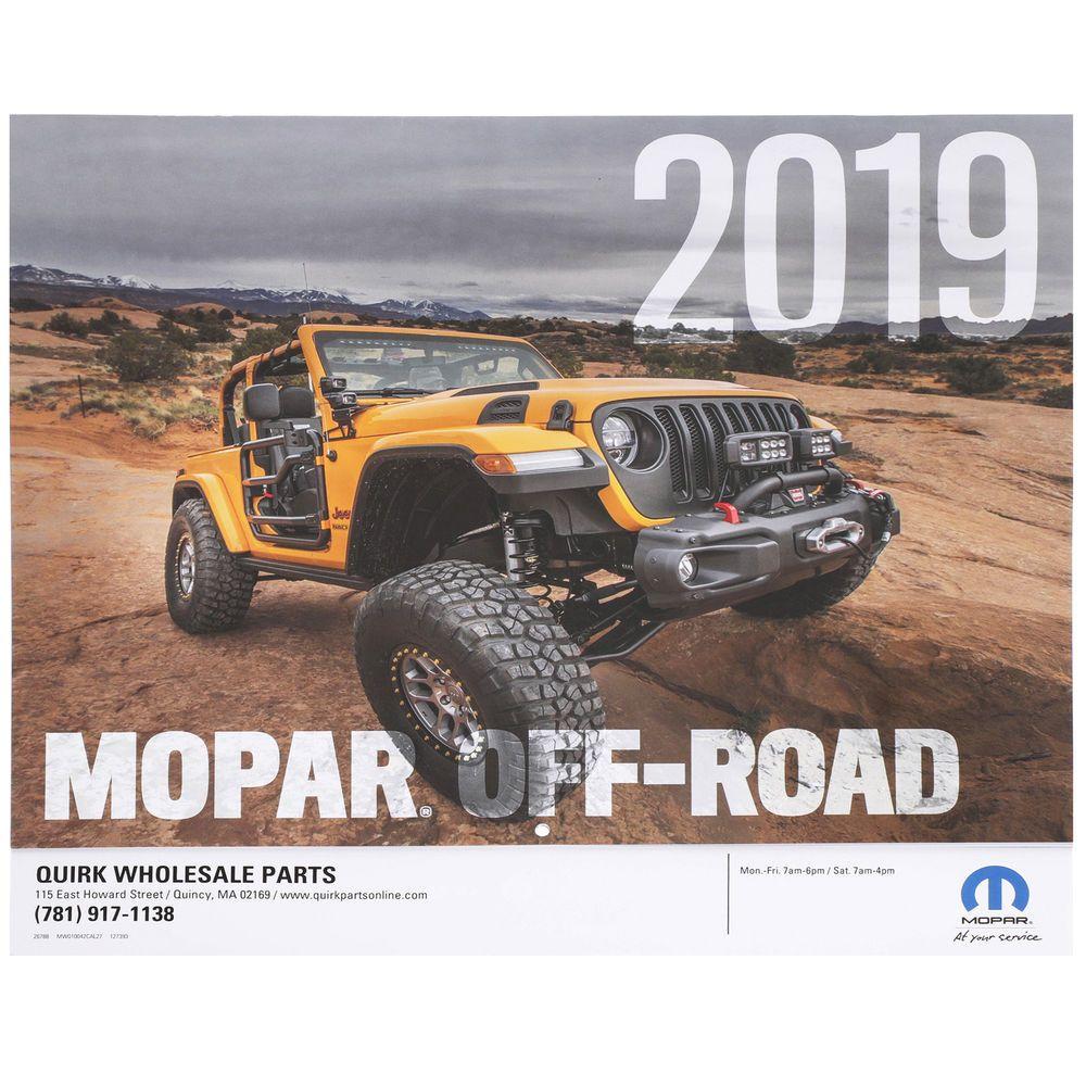 Brand New 2019 Mopar Off Road Calendar Offroad Mopar Monster