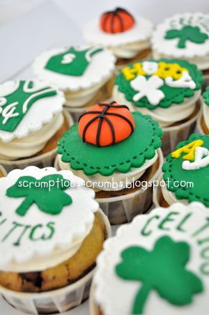 Boston Celtic Cupcakes Google Search Sammy Jpg 300x452 Happy Birthday Cake For