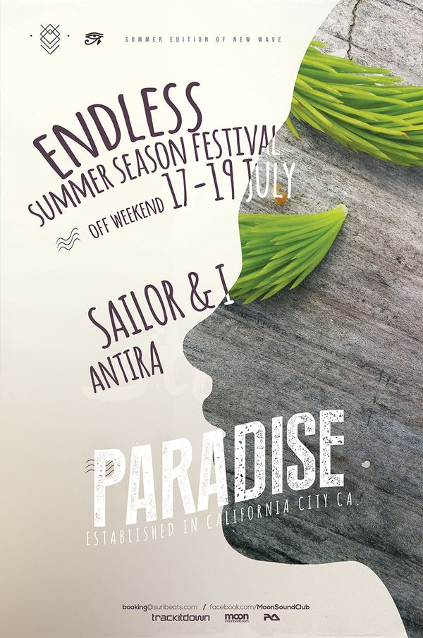 Paradise Summer Poster on Behance