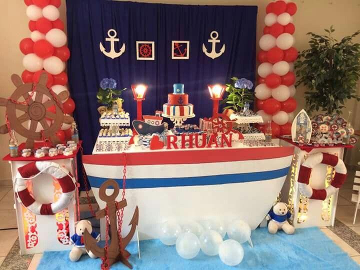Pin de yesenia andino en decoraciones pinterest fiesta de marinero para ni os y fiestas - Fiesta marinera decoracion ...