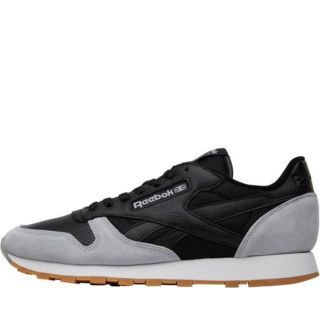 51672258d969b Reebok X Kendrick Lamar Mens Classic Leather Perfect Split Pack Trainers  Black Cloud Grey