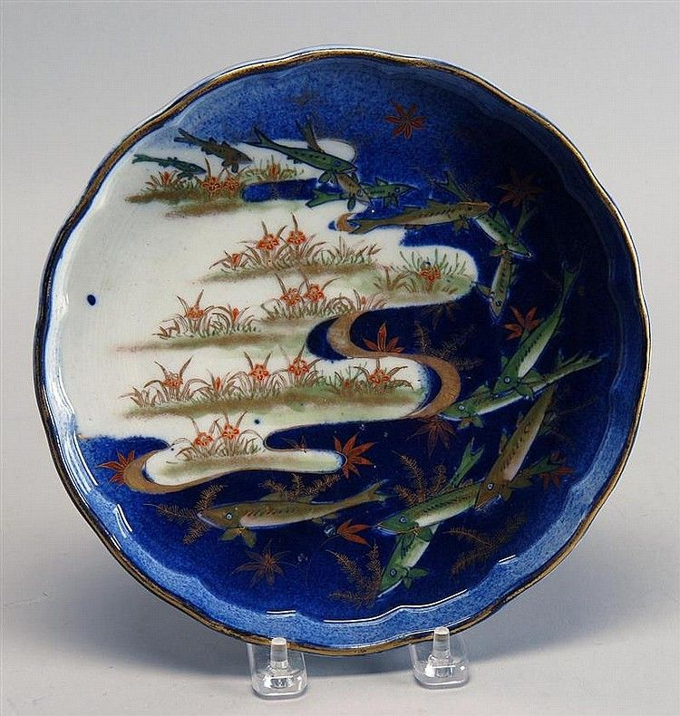 Japanese Antique Rare Koransha Porcelain Footed Plate of Oyu Design & Japanese Antique Rare Koransha Porcelain Footed Plate of Oyu Design ...