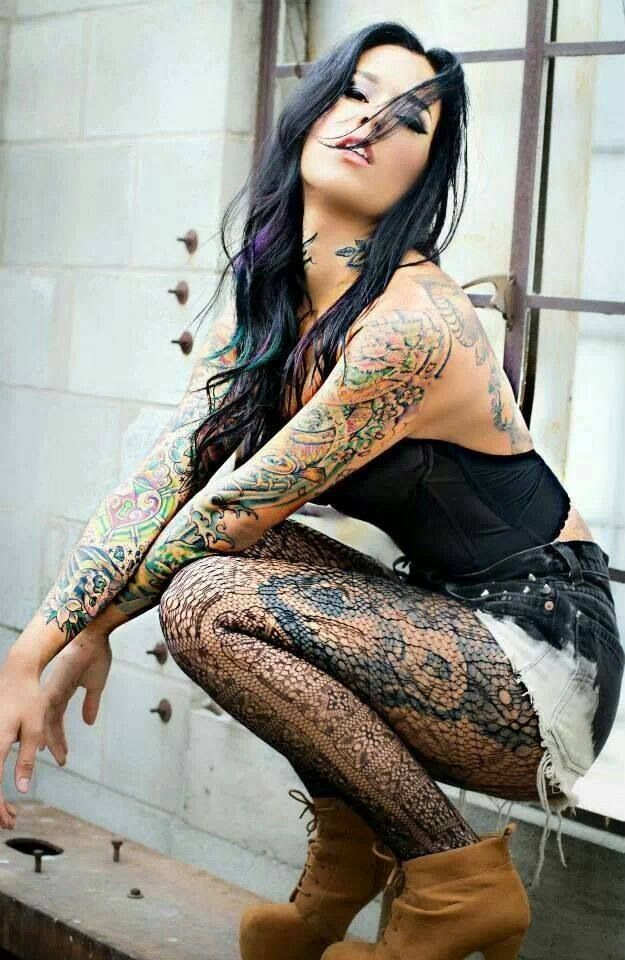 Naked girls with tattoos Nude Photos 96