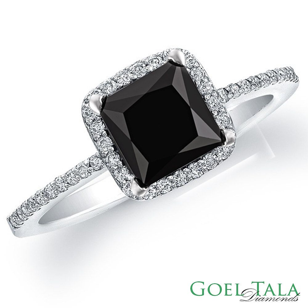 cute and the style diamond black special rings wedding