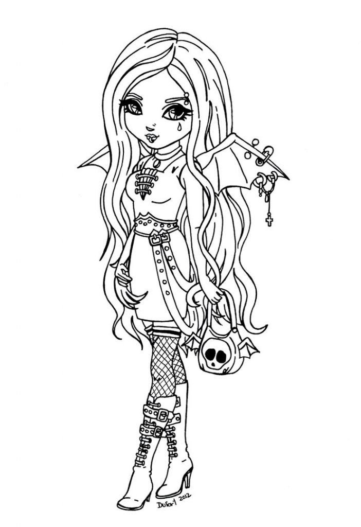 Gothic Fairy Coloring Pages | Fairy coloring pages, Adult ...