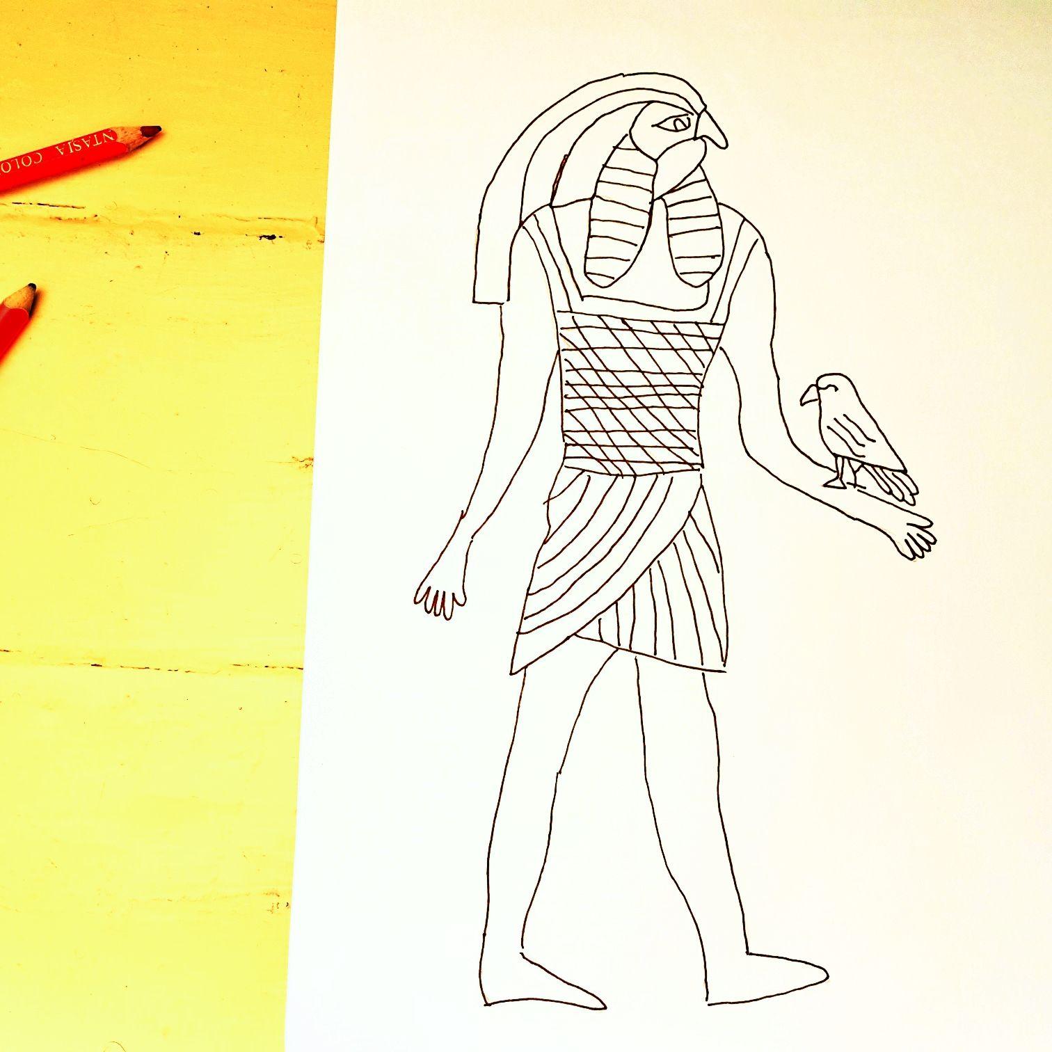 Meine Zeichnung von Gott Horus