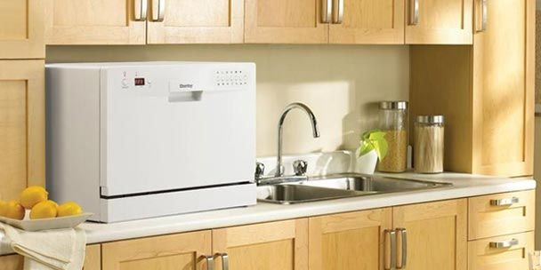 How To Choose The Best Countertop Dishwasher Countertop Dishwasher Clean Kitchen Cabinets Portable Dishwasher