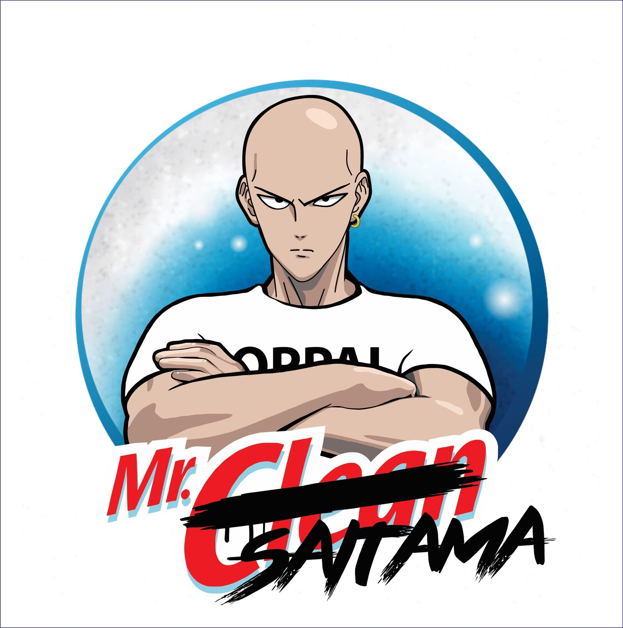 One Punch Man/Mr Clean TShirt One punch man, One punch