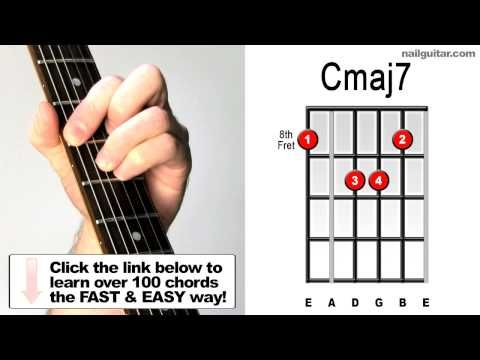 How To Play Cmaj7 Essential Guitar Chord Shape For Jazz Songs