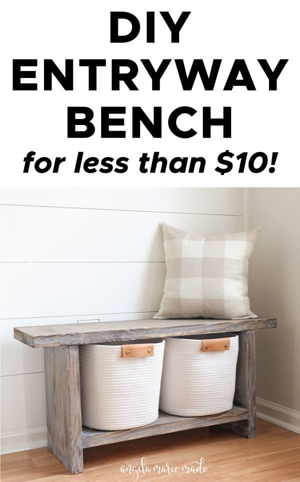 Photo of Easy DIY Entryway Bench for $10 – Angela Marie Made