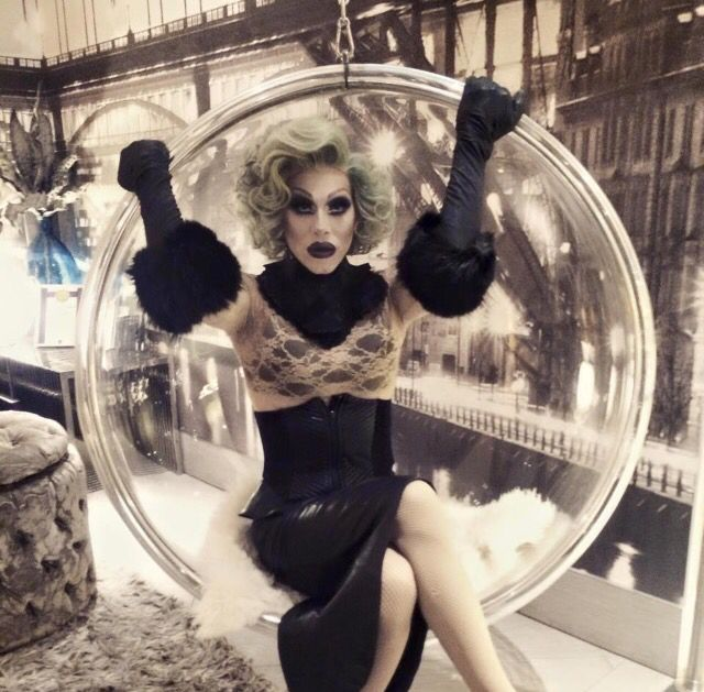 Sharon in a Bubble Chair!