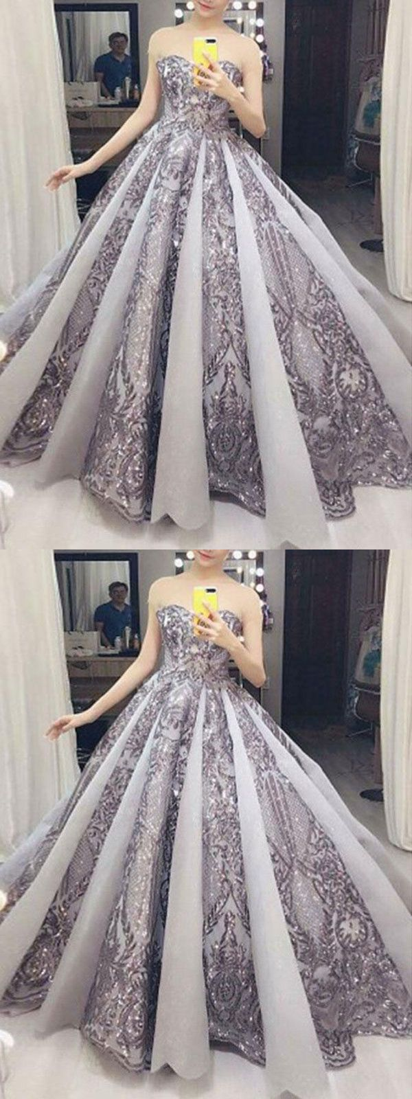 Ball gown vintage prom dress african silver lace beautiful prom