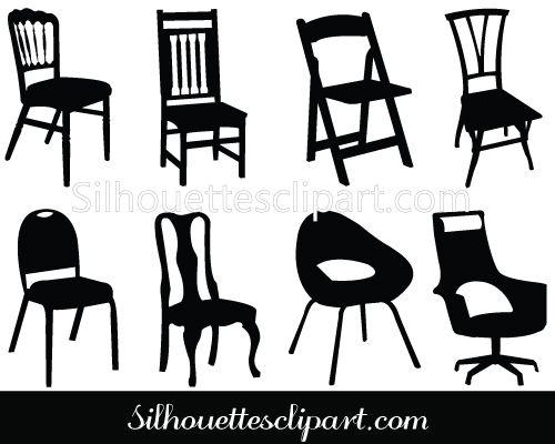 Chair Silhouette Clip Art Pack Silhouette Clip Art Silhouette Clip Art Art Silouette Art