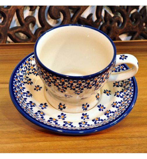 Bunzlau Keramik Kaffeetasse Untertasse 0,25 Liter 882A