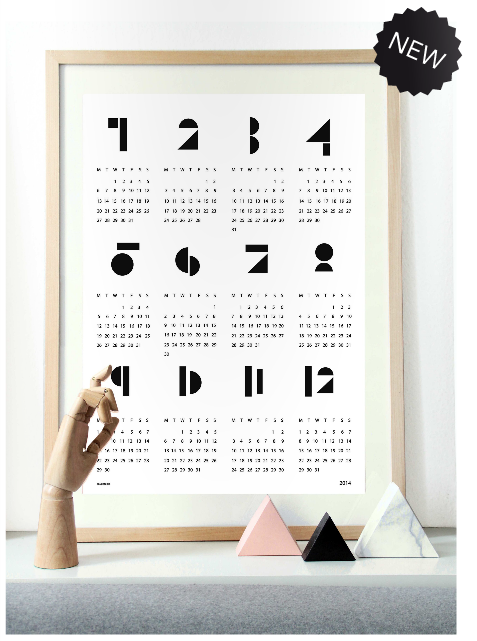 snug. muur kalender poster 2014 wit