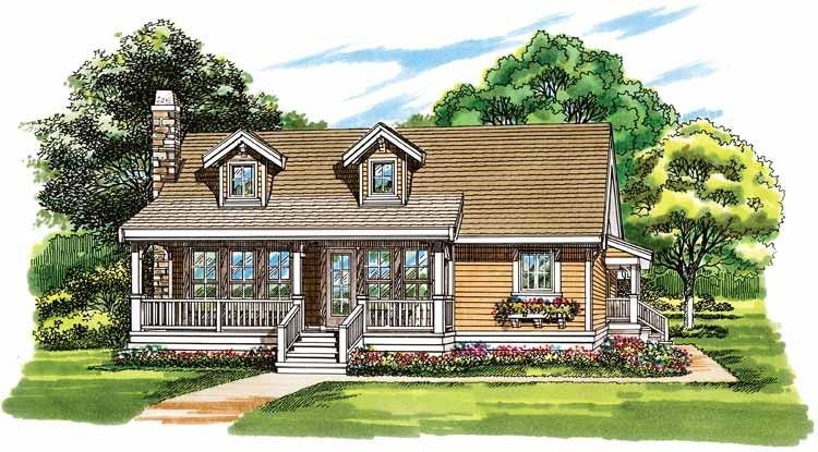 Country Style House Plan 2 Beds 1 Baths 1064 Sq Ft Plan 47 936 Diy House Plans House Plans Farmhouse House Plans