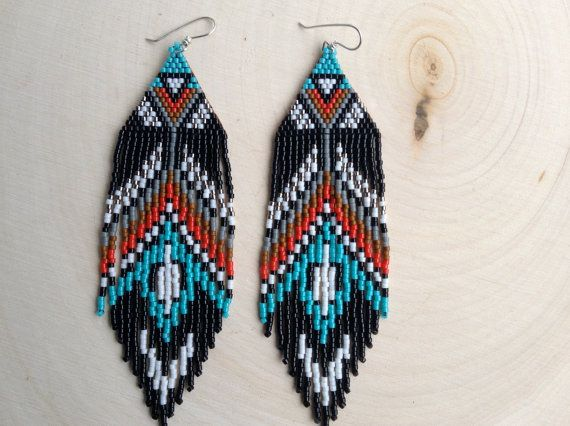 Bird Feather Earrings by wildmintjewelry on Etsy