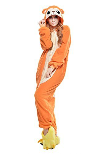9ca426aff1 Kigurumi Pajamas New Cosplay®   Monkey Leotard Onesie Halloween Animal  Sleepwear Orange Patchwork Polar Fleece Kigurumi UnisexHalloween