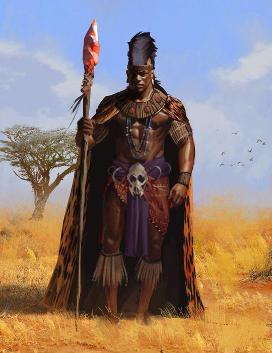 African Man Fantasy Art
