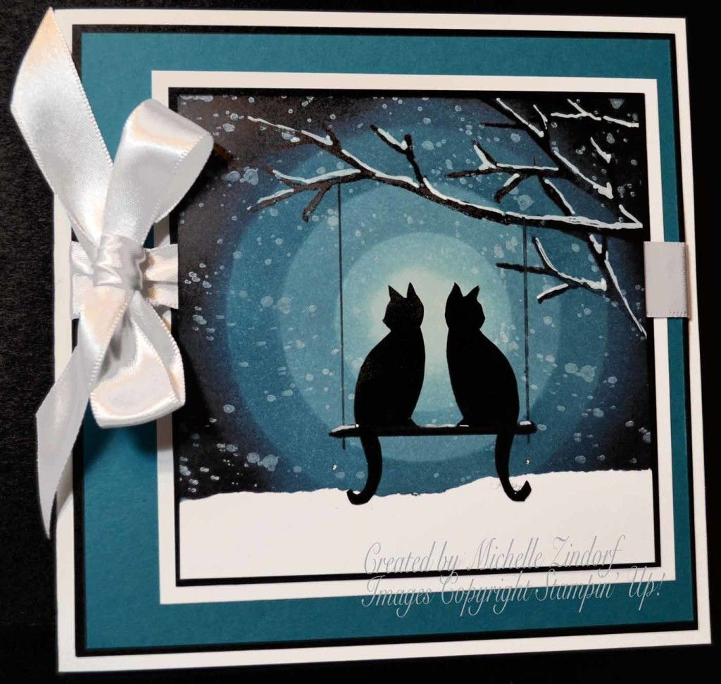 Cats On Watch Stampin' Up! Card Created By Michelle