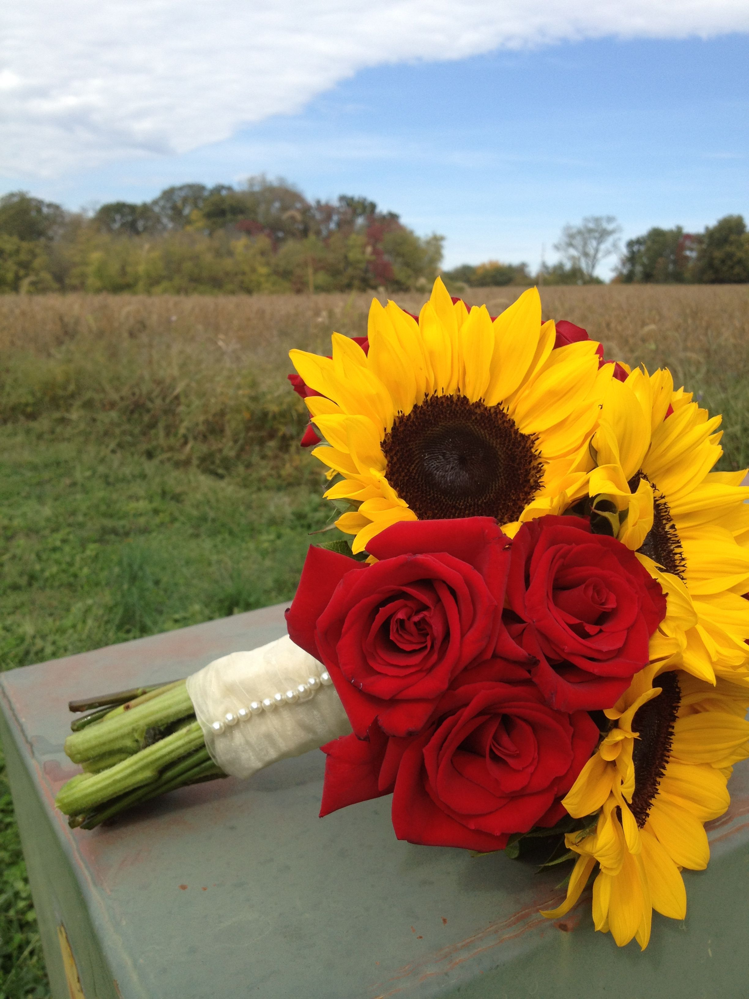 Renee miller wedding dresses  Beautiful local grown sunflowers paired with charlottes Designed by