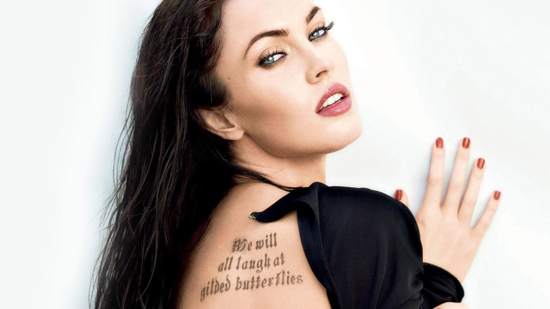 Love Megan And This Tattoo Megan Fox Eyebrows Megan Fox Megan Fox Wallpaper