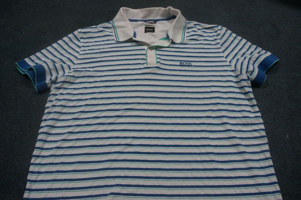 22e4782b3 HUGO BOSS Mens Regular Fit Rugby Polo Shirt Blue White Green A1033k  #fashion #clothing #shoes #accessories #mensclothing #shirts (ebay link)