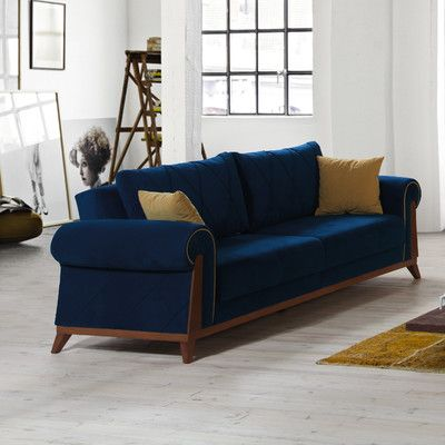 Awesome Perla Furniture London Sleeper Sofa Upholstery Blue Finish Machost Co Dining Chair Design Ideas Machostcouk