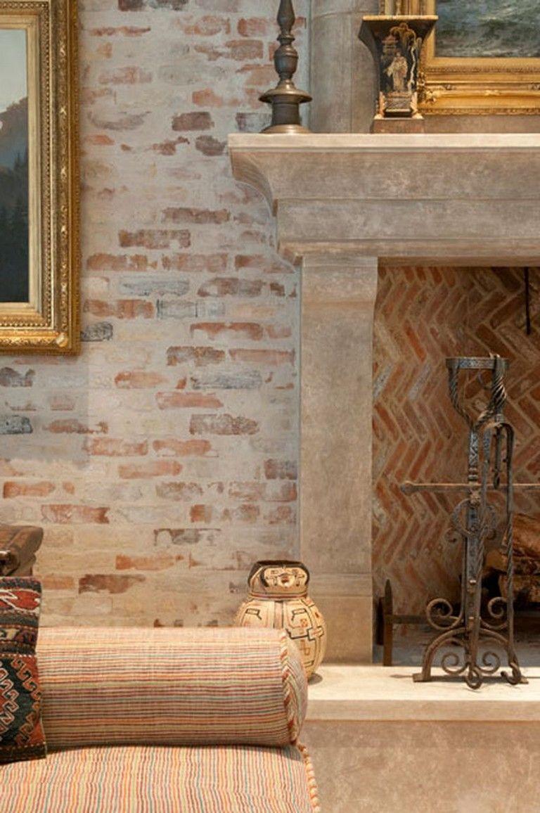 Home interior wall design  admirable artistic vintage brick wall design for home interior