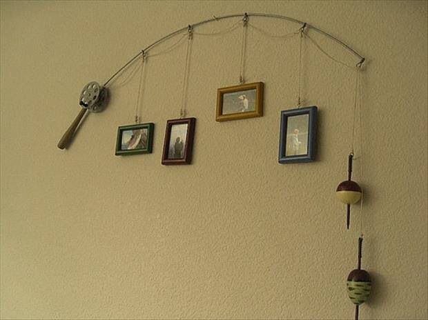 Fishing Rod Fishing Reel Picture Hanger Picture Frame Diy