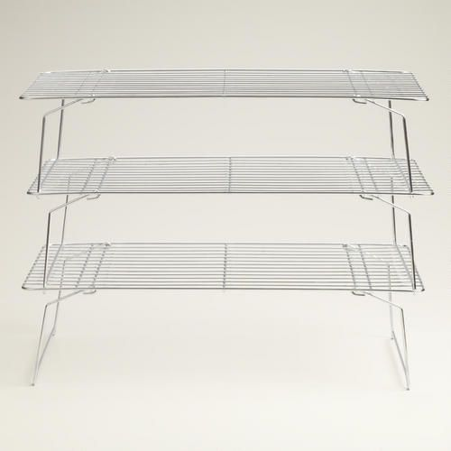 3 Tier Stackable Cooling Rack Silver By World Market Cooling
