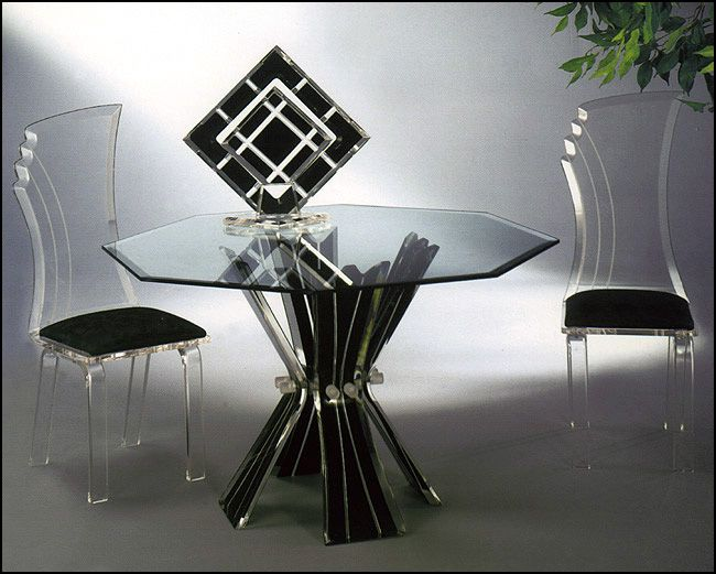 Decolors Dining Table Glass Dining Table Set Glass Table Glass