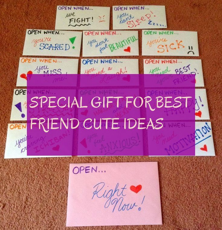 special gift for best friend cute ideas