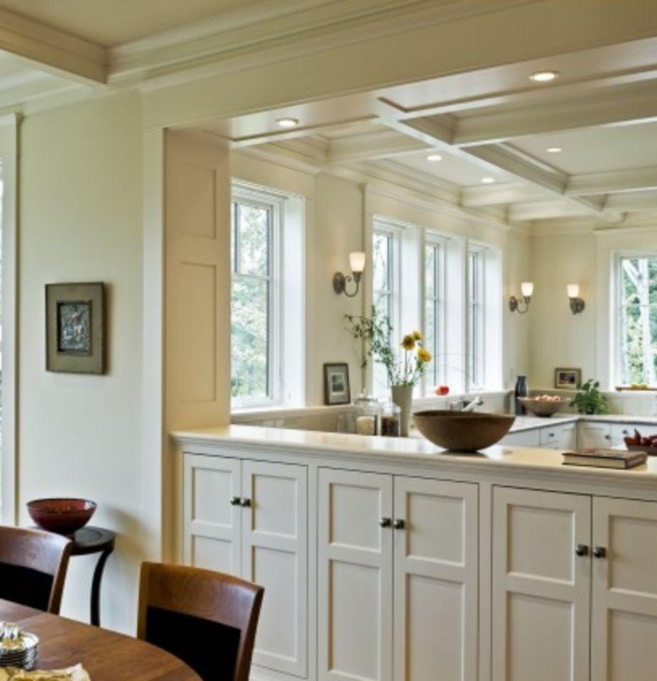 60 stunning half wall kitchen designs ideas  half wall