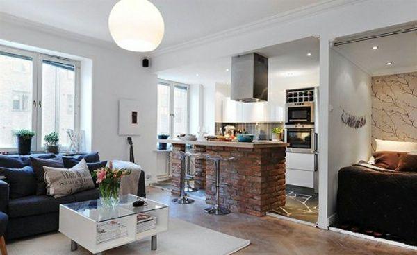 einzimmerwohnung-einrichten-elegant-wirken Apartment 1Room - moderne kleine wohnzimmer