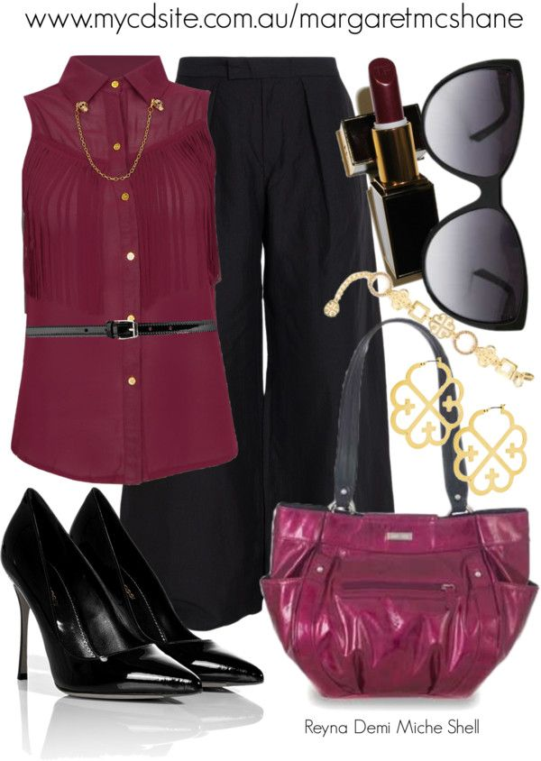 """""""Reyna Demi Miche Shell"""" by mcshanes on Polyvore"""