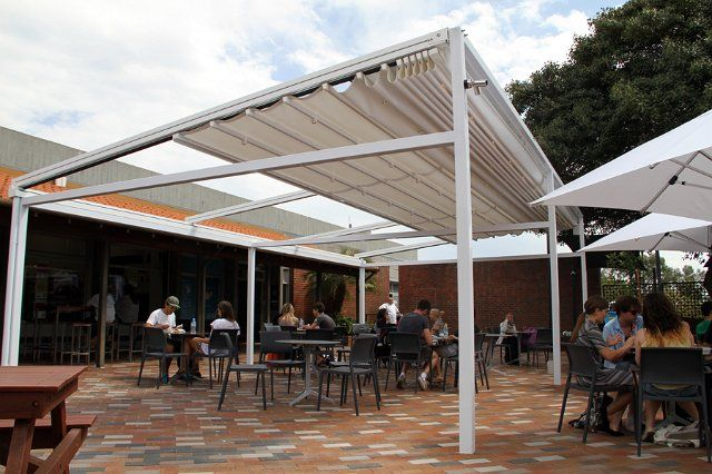 An Example Of Our Commercial Outdoor Blinds Bozzy Shade