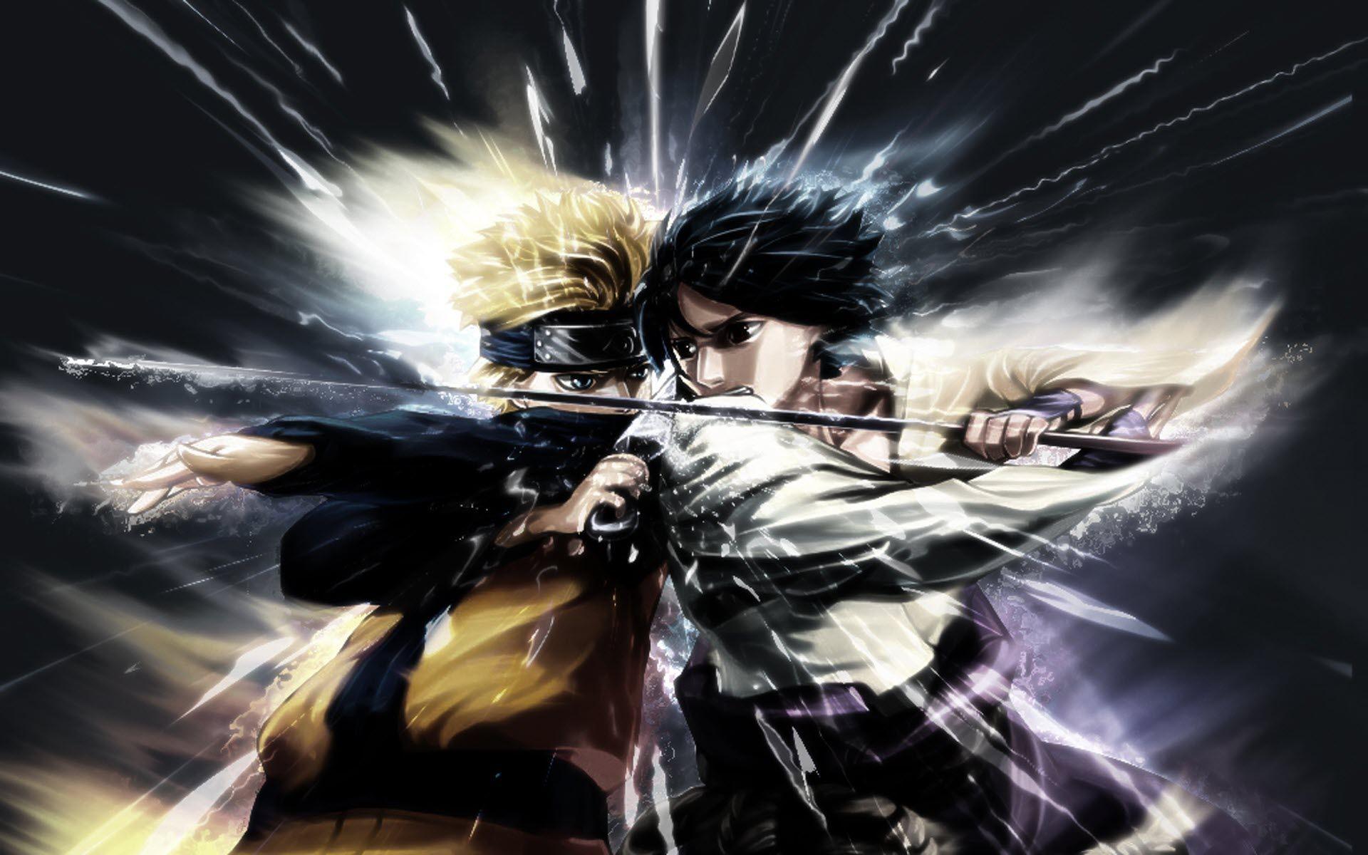 Naruto High Resolution Desktop Wallpapers Naruto Vs Sasuke